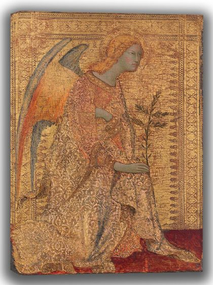 Martini, Simone: The Angel of the Annunciation. Fine Art Canvas. Sizes: A4/A3/A2/A1 (004165)